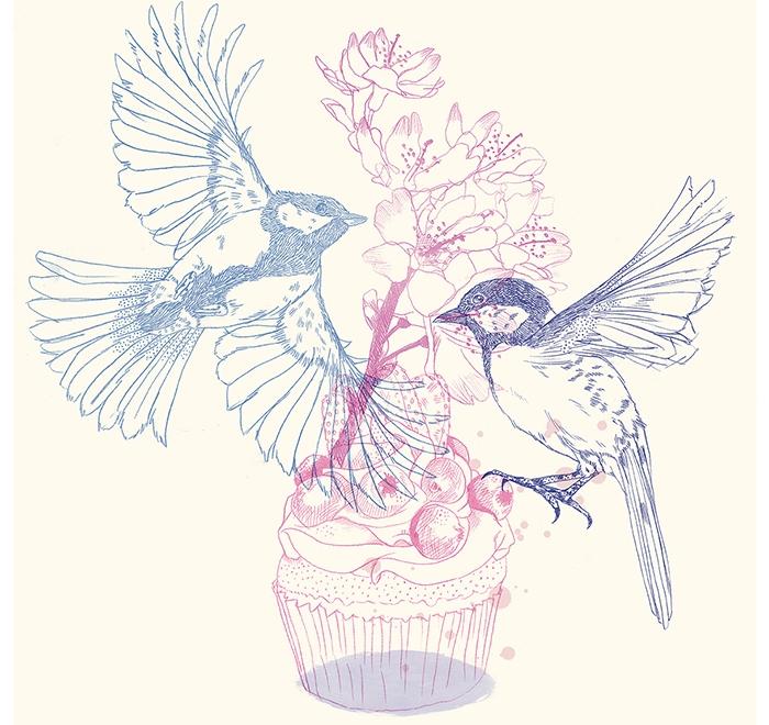 """Birds, Cake & Flowers"""