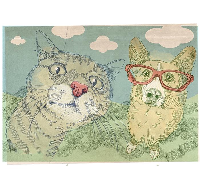 """""""Kitty & Dog"""""""