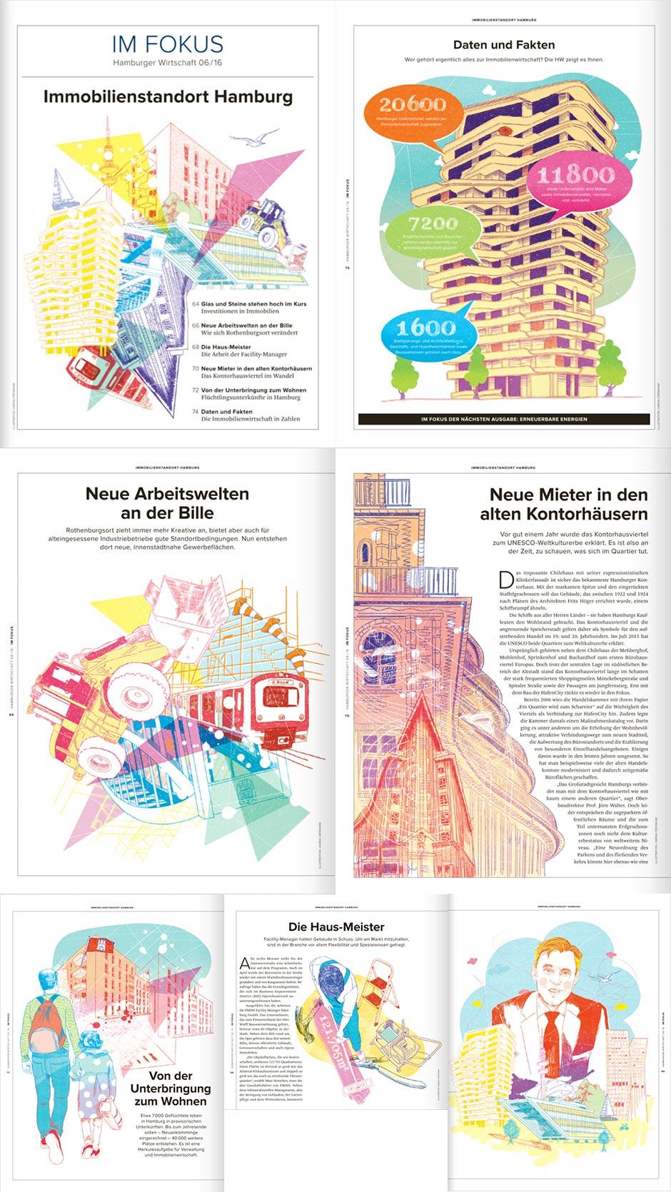 Illustrator_Illustration_Hamburg_carina_crenshaw_Wirtschaft_Immobilien_Billbrook_Standort_Hausmeister