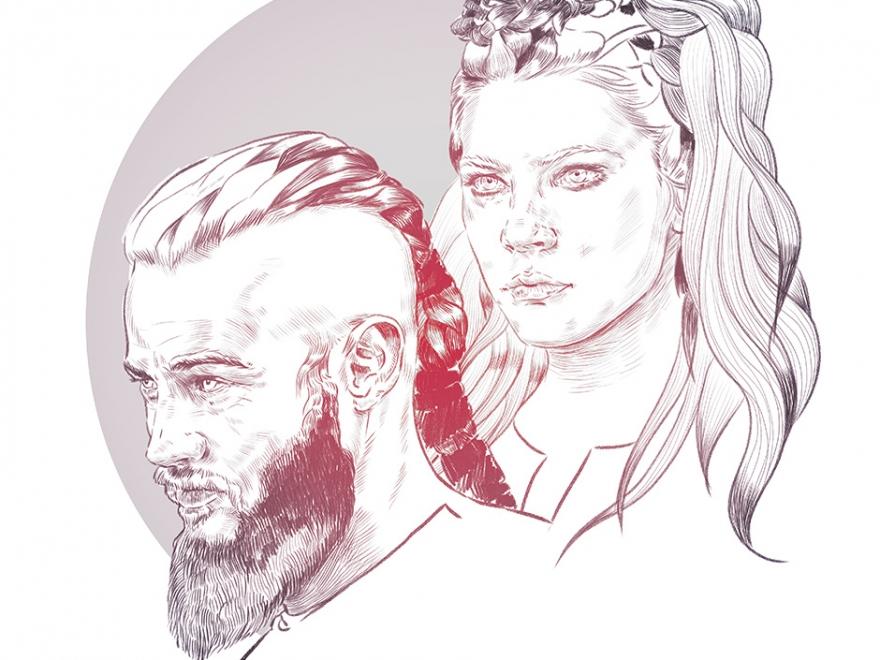 Ragnar & Lagertha / Vikings